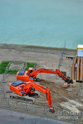 River View Photograph - Big Toys by Olivier Le Queinec