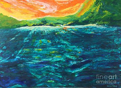 Big Tropical Wave Art Print by Stella Sherman