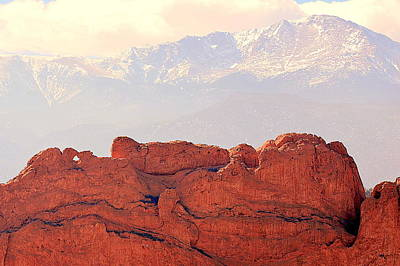 Photograph - Big View Kissing Camels N Pikes Peak by Clarice Lakota