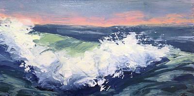 Big Wave #1 Art Print by Mary Byrom