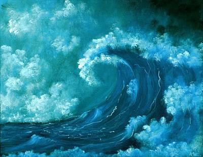 Majestic Seascapes Painting - Big Wave by Anastasiya Malakhova