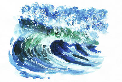 Painting - Big Wave by Masha Batkova