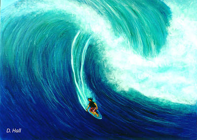 Big Wave North Shore Oahu #285 Art Print by Donald k Hall