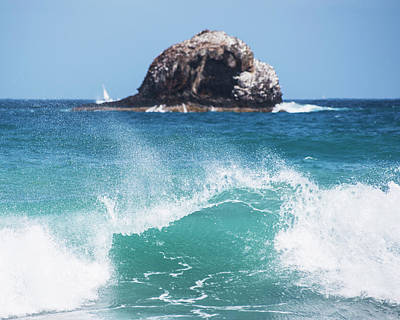 Photograph - Big Wave Rock Off Of Pigeon Island Saint Lucia by Toby McGuire