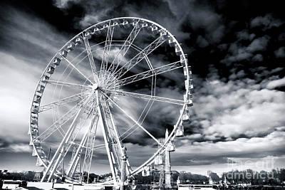 Big Wheel In Paris Art Print by John Rizzuto
