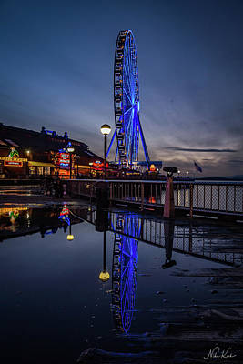 Photograph - Big Wheel Reflection by Framing Places