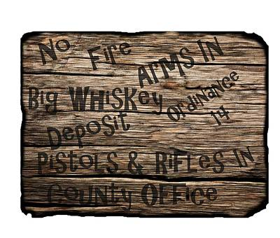 David Drawing - Big Whiskey Fire Arm Sign by Movie Poster Prints