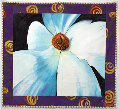 Big White Flower Art Print by Grace Matthews