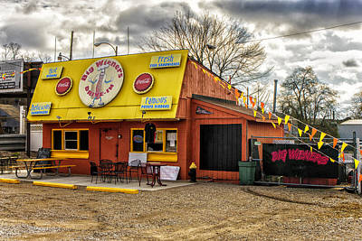 Photograph - Big Wieners Drive-in Alton Il-dsc09535-6-7- by Greg Kluempers