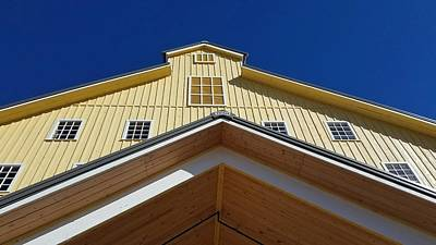 Photograph - Big Yellow Barn by Caryl J Bohn