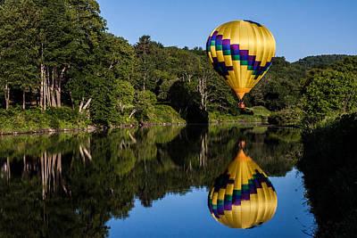 Photograph - big yellow Hot air balloon by Jeff Folger