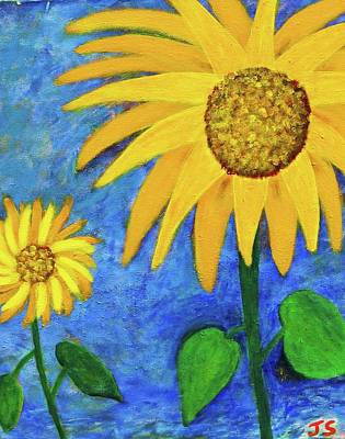 Art Print featuring the painting Big Yellow by John Scates