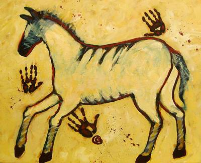 Big Yellow Lascaux Horse Art Print