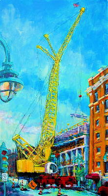 Painting - Big Yellow by Les Leffingwell