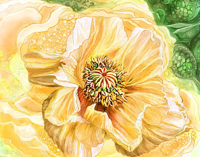 Mixed Media - Big Yellow Poppy by Carol Cavalaris