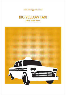 Digital Art - Big Yellow Taxi -- Joni Michel by David Davies