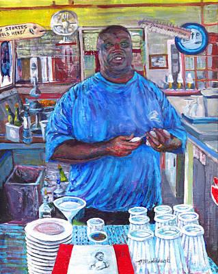 Bartender Painting - Big Al by Thomas Michael Meddaugh