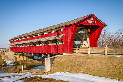Music Royalty-Free and Rights-Managed Images - Bigelow/Little Covered Bridge by Jack R Perry