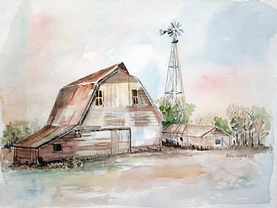 Buildings Painting - Bigelow's Barn by Arline Wagner