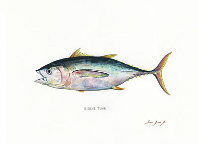 Saltwater Fishing Painting - Bigeye Tuna by Juan Bosco