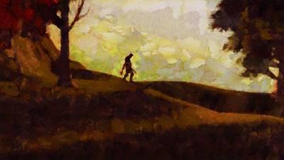 Yeti Painting - Bigfoot by Esoterica Art Agency