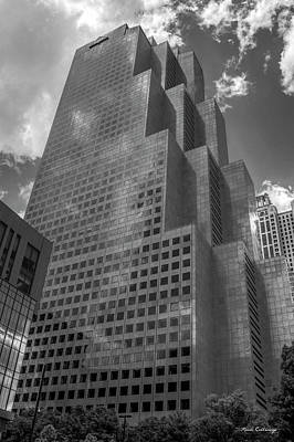 Photograph - Bigger Than Life Bw Georgia Pacific Tower Art  Atlanta Georgia Art by Reid Callaway