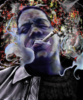 Biggie Painting - Biggie - Burning Lights 5 by Reggie Duffie