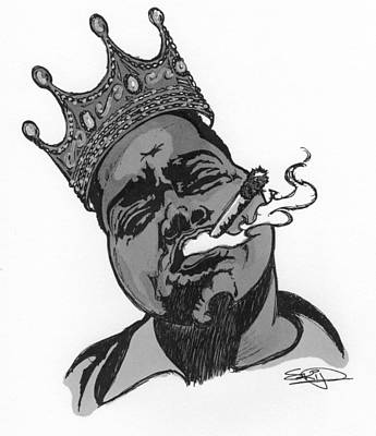 Rap Painting - Biggie by SKIP Smith