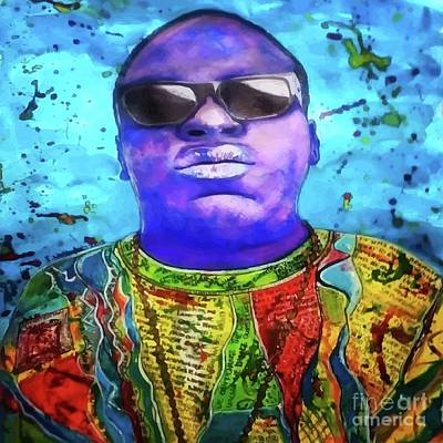 Hip Drawing - Biggie Smalls by Elizabeth Worthington