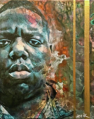 Stencil Art Painting - Biggie - Stick And Move by Bobby Zeik
