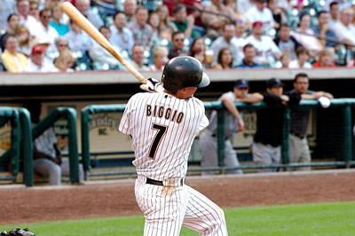 Photograph - Biggio Swinging by Teresa Blanton
