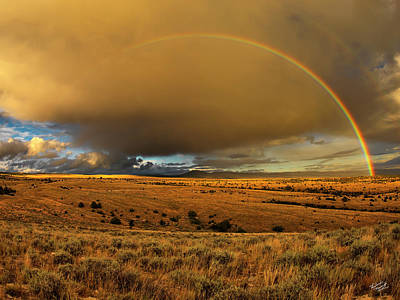 Photograph - Bighorn Basin Rainbow by Leland D Howard
