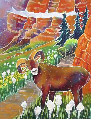 Summer Fun Painting - Bighorn In The Beargrass by Harriet Peck Taylor