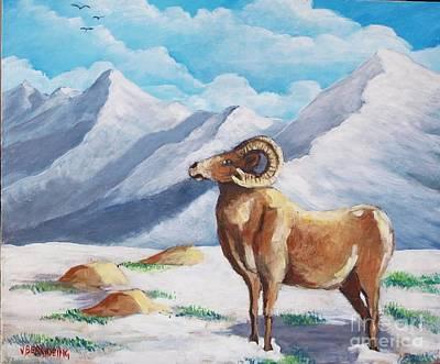 Painting - Bighorn Kam by Jean Pierre Bergoeing
