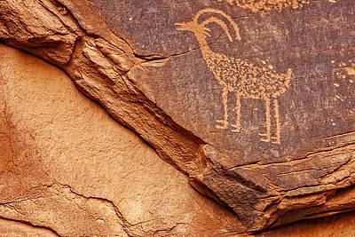Bighorn Petroglyph II Art Print by Susan Candelario
