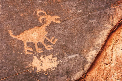 Bighorn Petroglyph Art Print by Susan Candelario