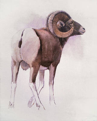 Painting - Bighorn Sheep by Attila Meszlenyi