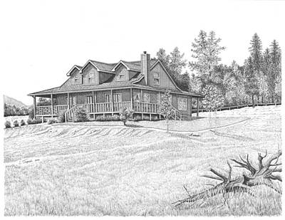 Drawing - Bigness House by Lawrence Tripoli