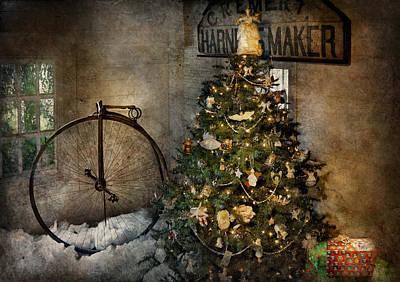 Photograph - Bike - I Wanna Bike For Christmas  by Mike Savad