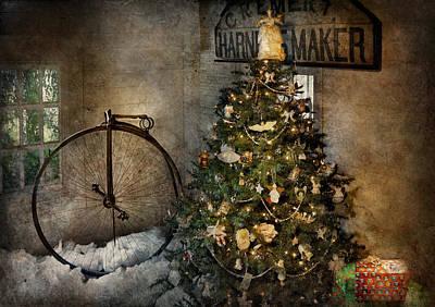 Penny Farthing Photograph - Bike - I Wanna Bike For Christmas  by Mike Savad