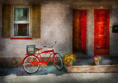 Photograph - Bike - Welcome Doors Open  by Mike Savad