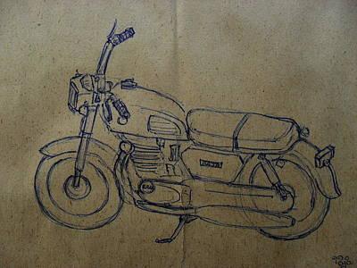 Two Wheeler Drawing - Bike 02 by Mohd Raza-ul Karim