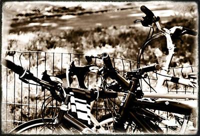 Bike Against The Fence Art Print by Madeline Ellis