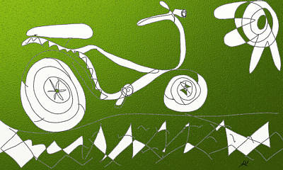 Digital Art - Bike by Agnes Karcz