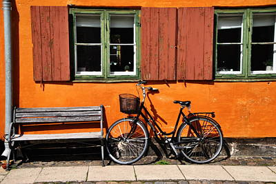 Photograph - Bike And Bench by Jacqueline M Lewis