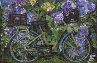 Painting - Bike And Bush by Kim Selig