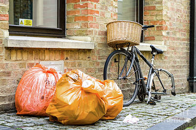 Photograph - Bike And Rubbish, Oxford, England, Uk by Tom Rydel