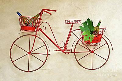 Photograph - Bike And Wine by Gabriele Pomykaj