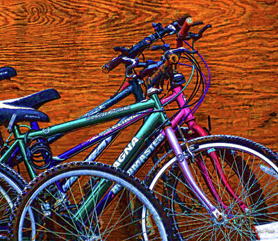 Photograph - Bike Art Pop by Lesa Fine