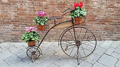 Digital Art - Bike Art - Siena, Italy by Joseph Hendrix